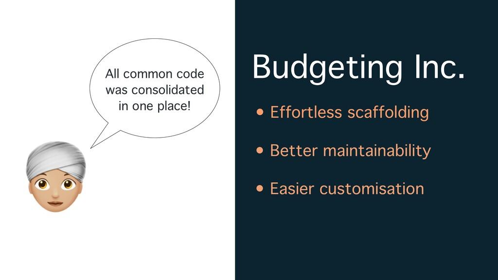Budgeting Inc. A • Effortless scaffolding • Bet...