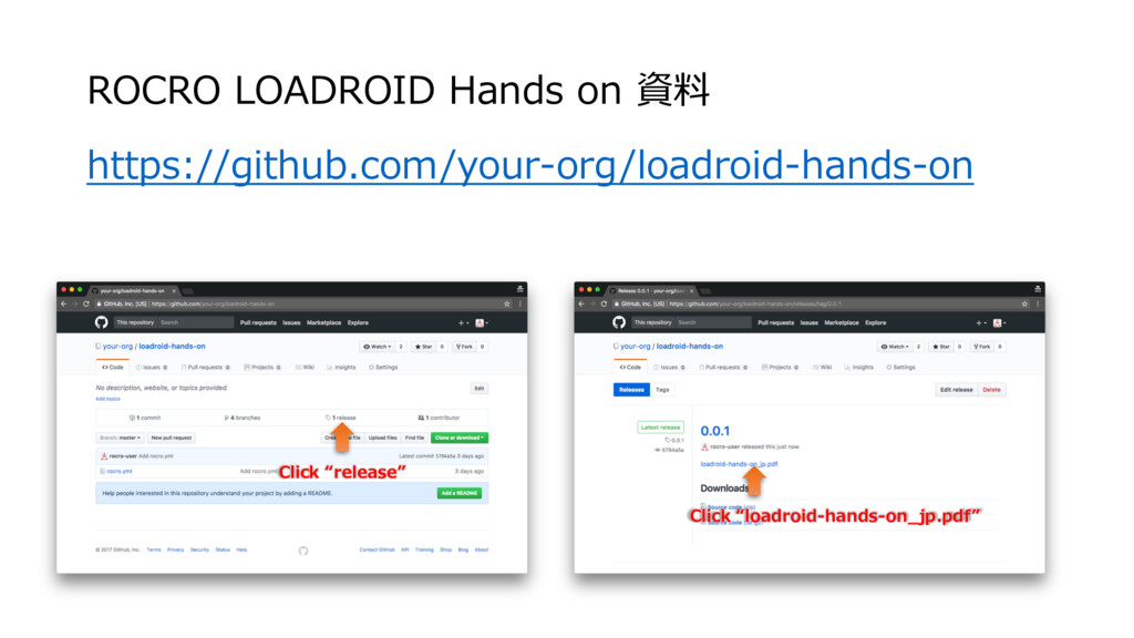 ROCRO LOADROID Hands on 資料 https://github.com/y...