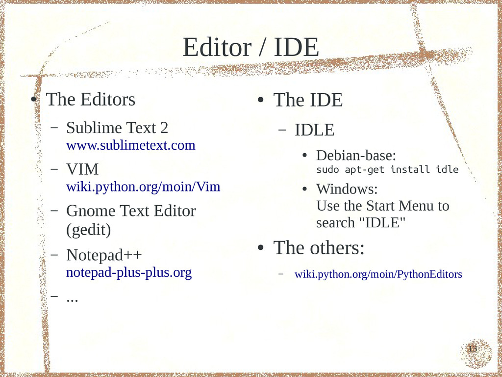 13 Editor / IDE ● The Editors – Sublime Text 2 ...