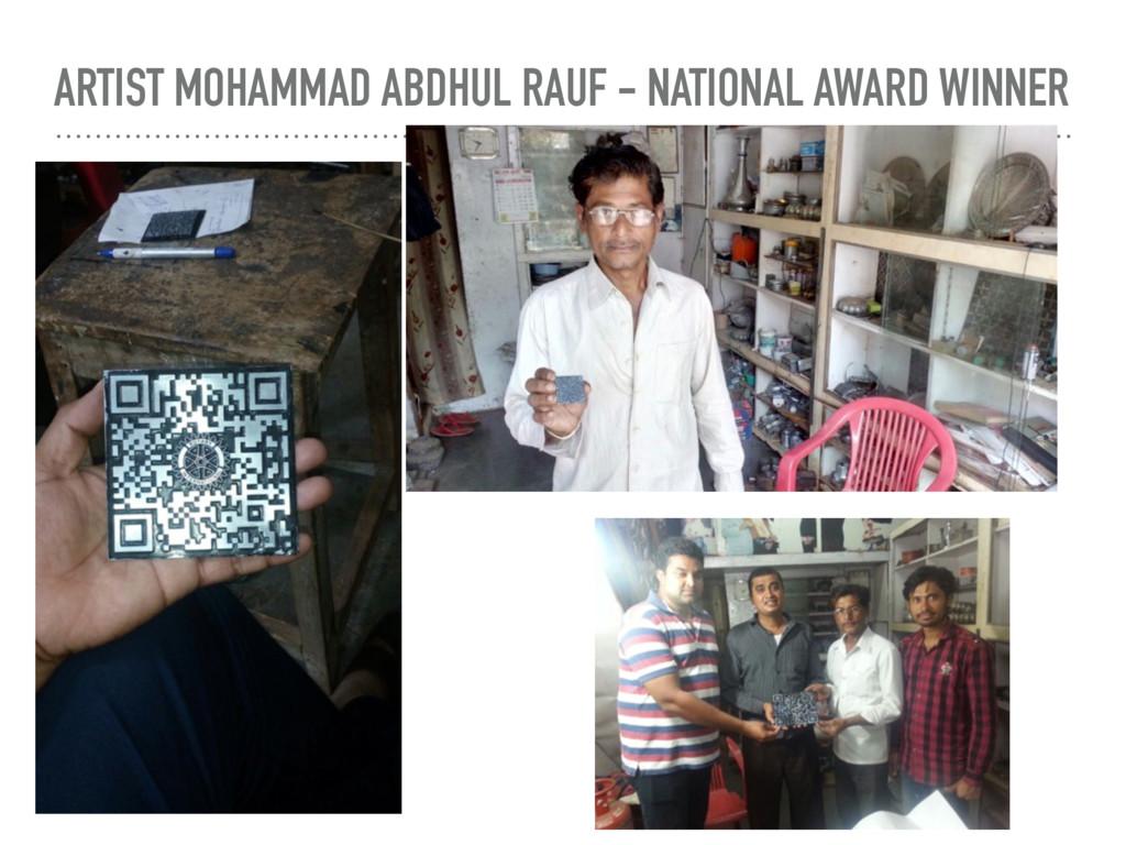 ARTIST MOHAMMAD ABDHUL RAUF - NATIONAL AWARD WI...