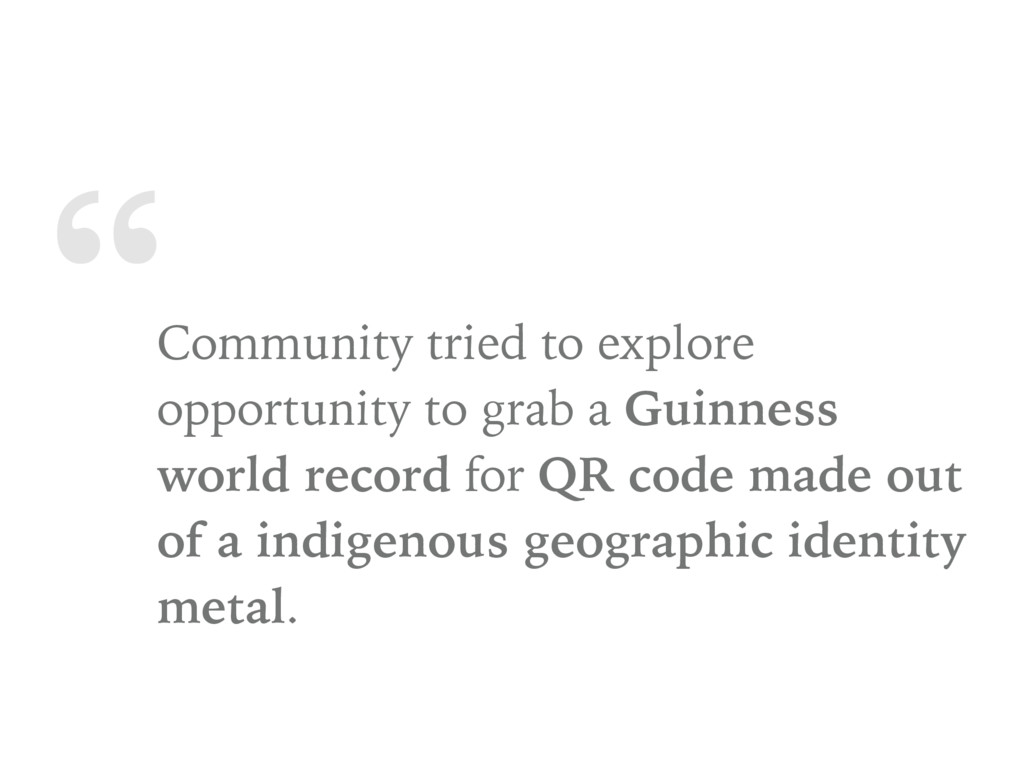 """"""" Community tried to explore opportunity to gra..."""