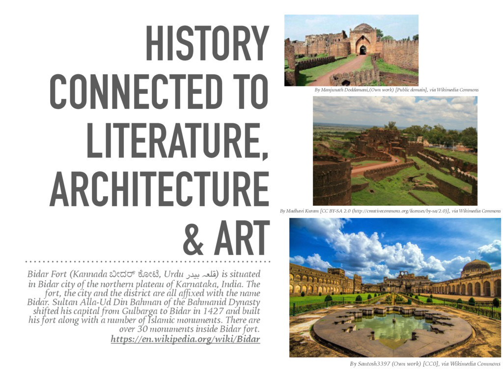 HISTORY CONNECTED TO LITERATURE, ARCHITECTURE &...