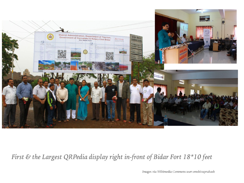 First & the Largest QRPedia display right in-fr...