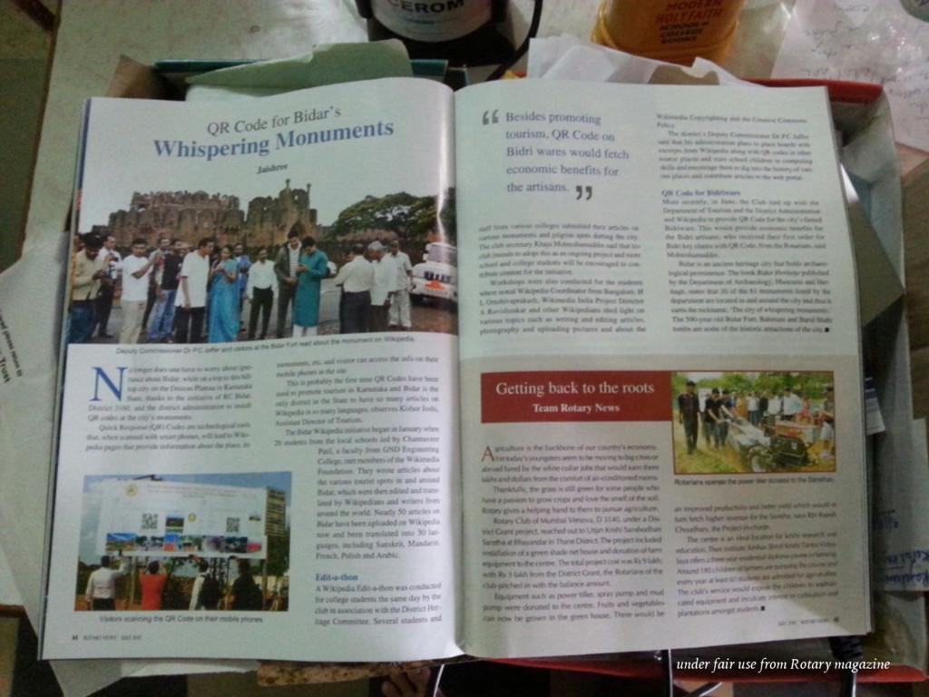 under fair use from Rotary magazine