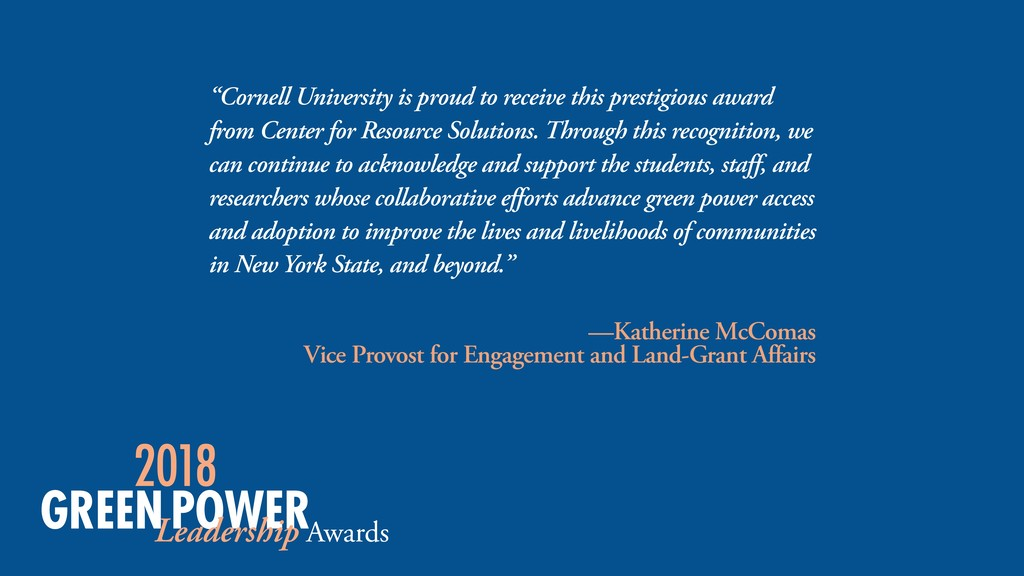 """Cornell University is proud to receive this pr..."