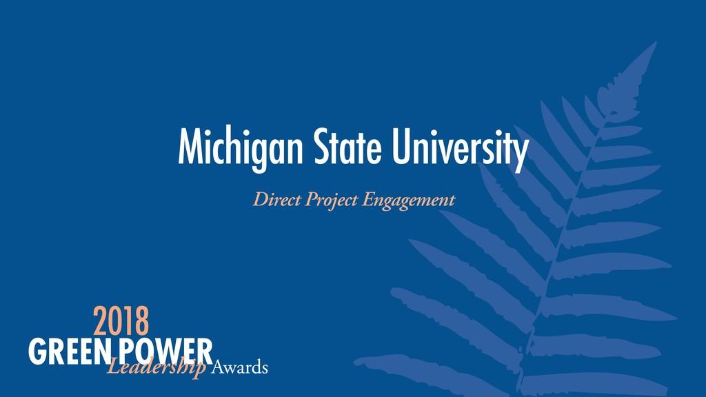 Michigan State University Direct Project Engage...