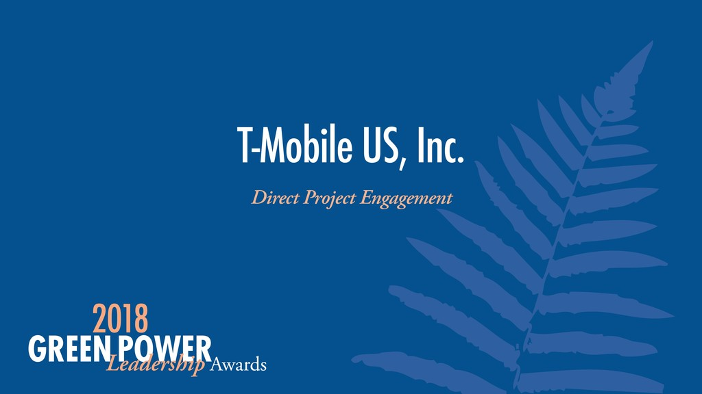 T-Mobile US, Inc. Direct Project Engagement