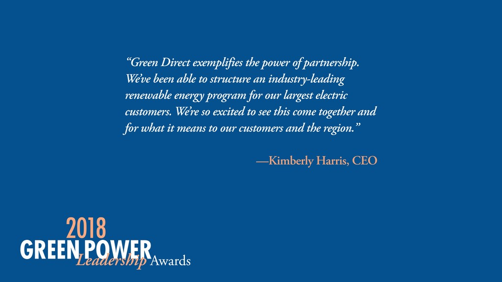 """Green Direct exemplifies the power of partners..."