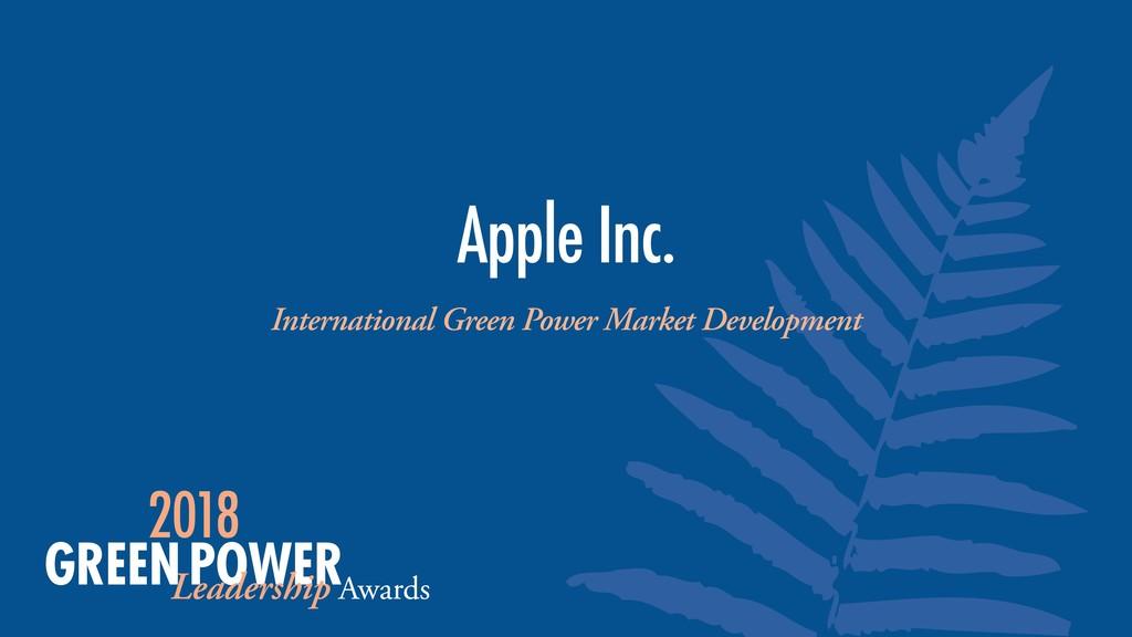 International Green Power Market Development Ap...