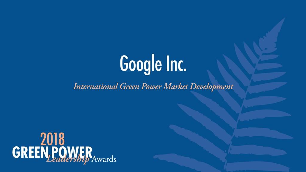 International Green Power Market Development Go...