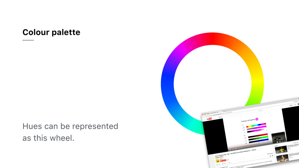 Colour palette Hues can be represented as this ...