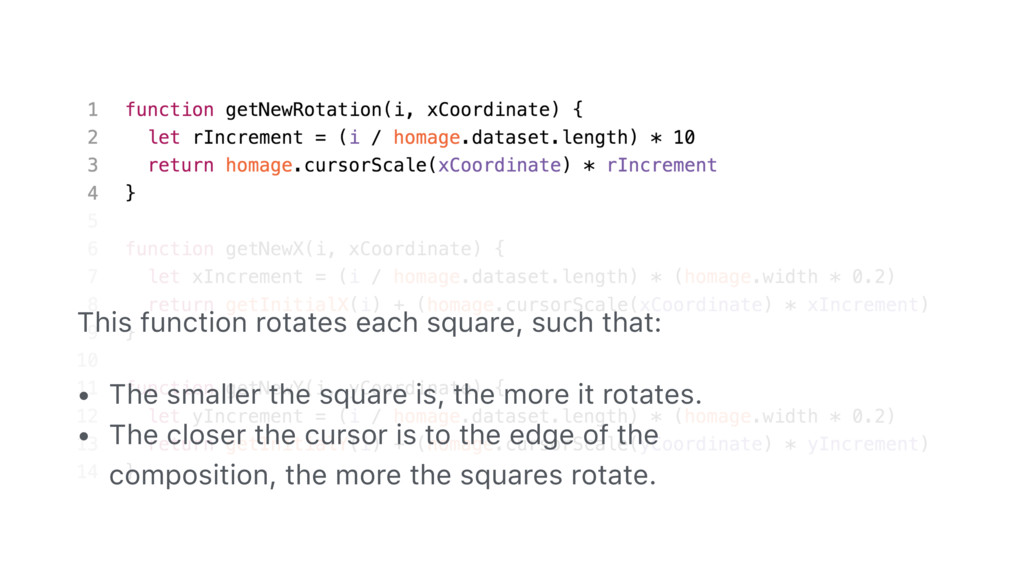 95 This function rotates each square, such that...