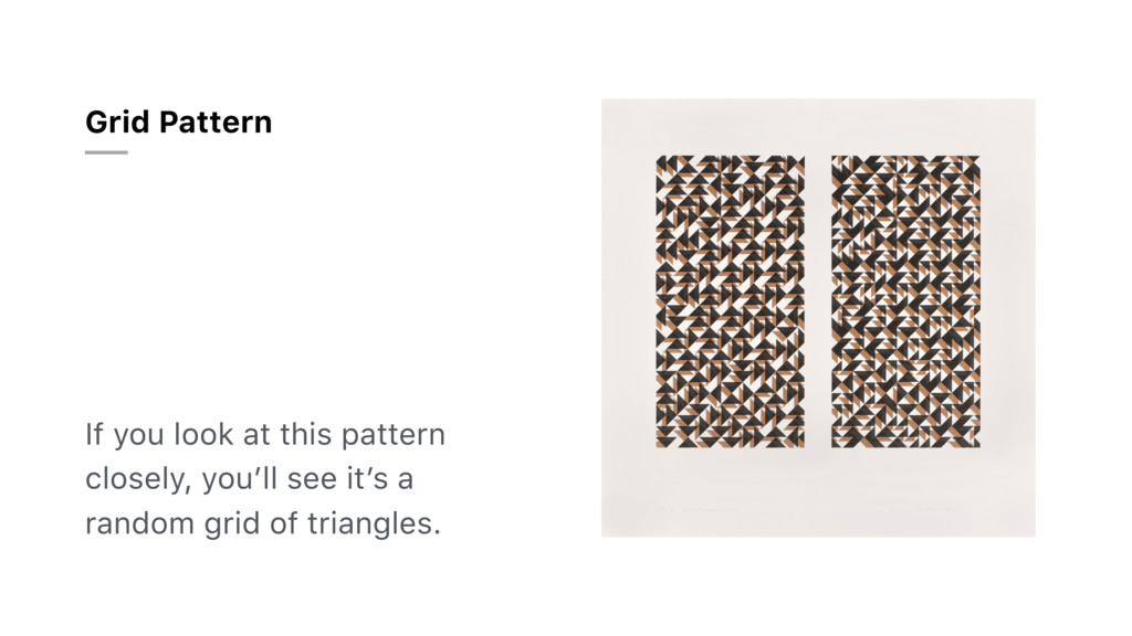 If you look at this pattern closely, you'll see...