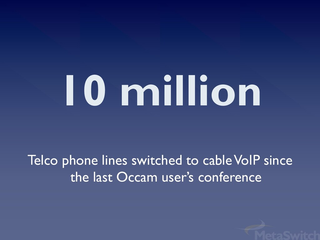 10 million Telco phone lines switched to cable ...
