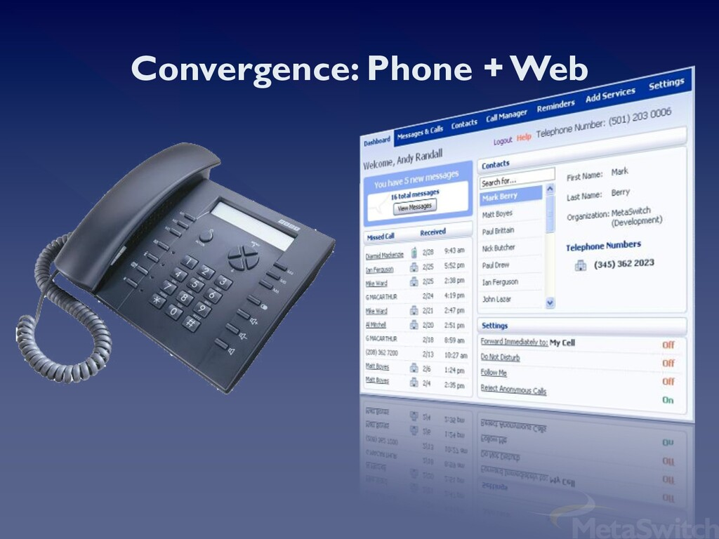 Convergence: Phone + Web