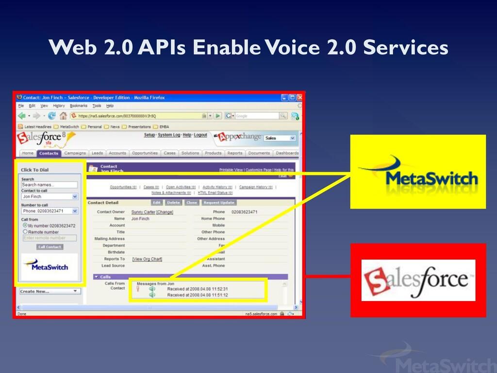Web 2.0 APIs Enable Voice 2.0 Services