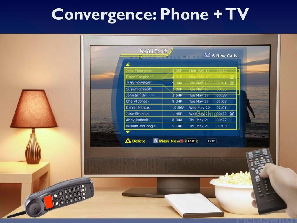 Convergence: Phone + TV Calling… Calling…