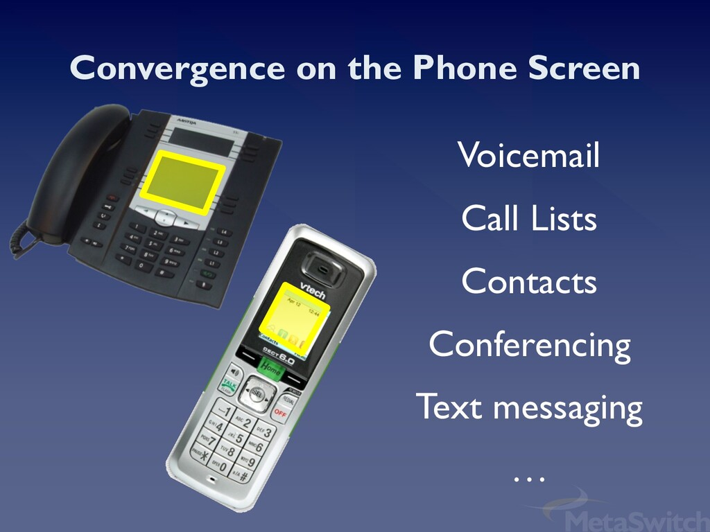 Convergence on the Phone Screen Voicemail Call ...