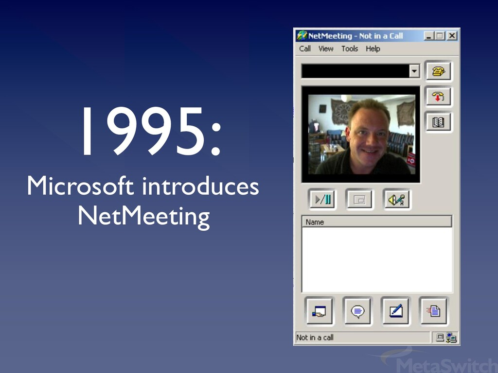 1995: Microsoft introduces NetMeeting