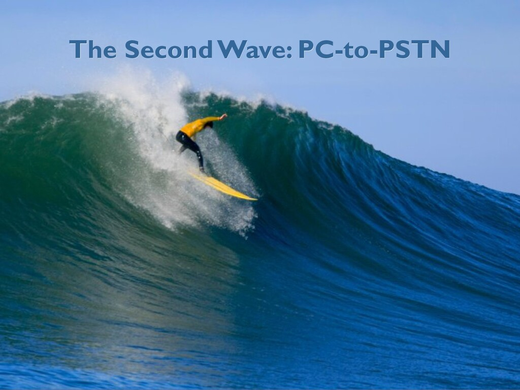 The Second Wave: PC-to-PSTN