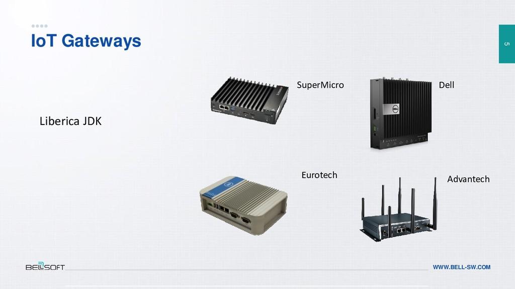 5 WWW.BELL-SW.COM IoT Gateways SuperMicro Dell ...