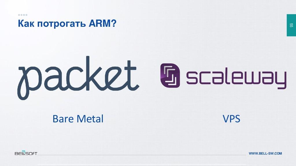 55 WWW.BELL-SW.COM Как потрогать ARM? Bare Meta...
