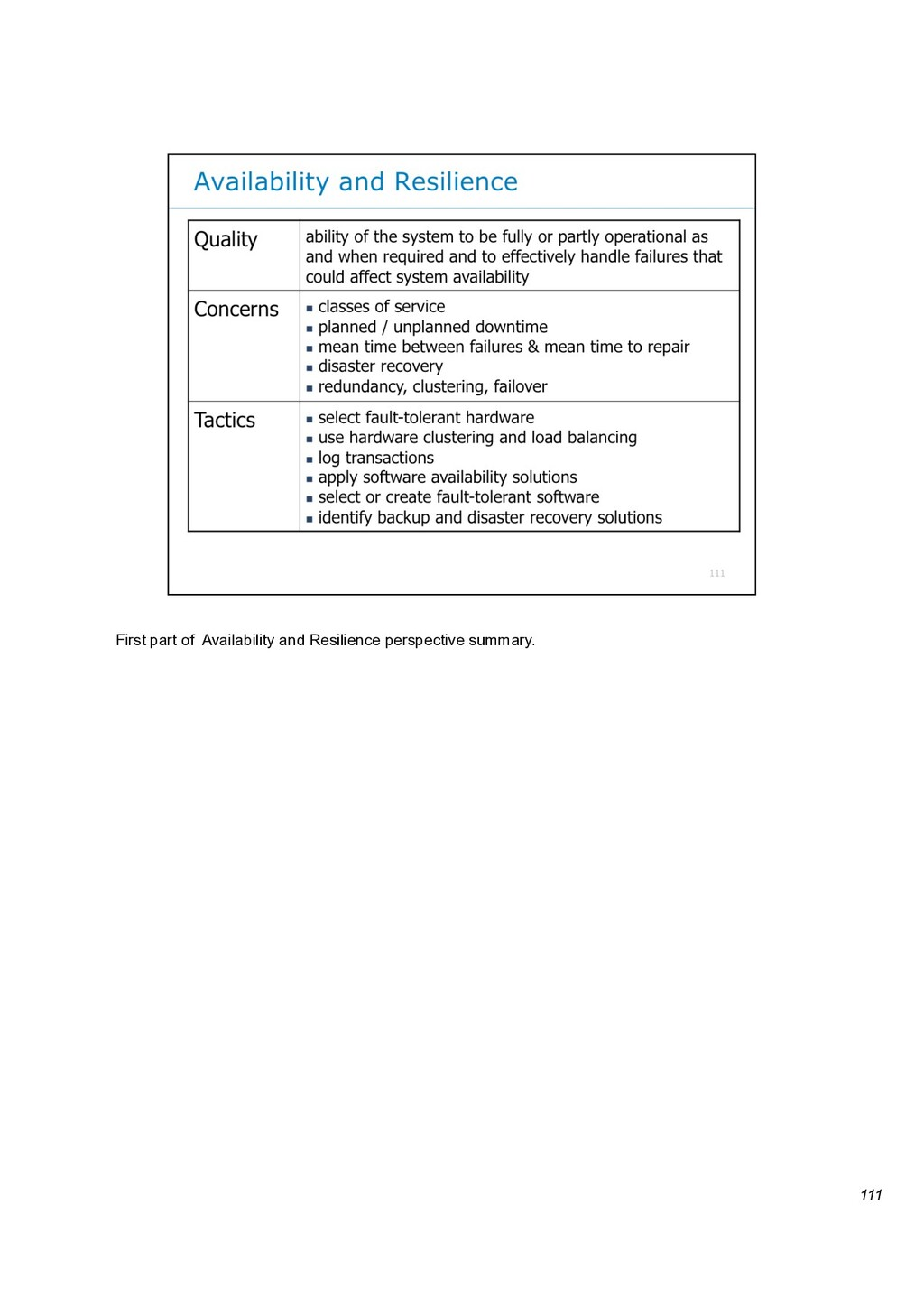 111 First part of Availability and Resilience p...