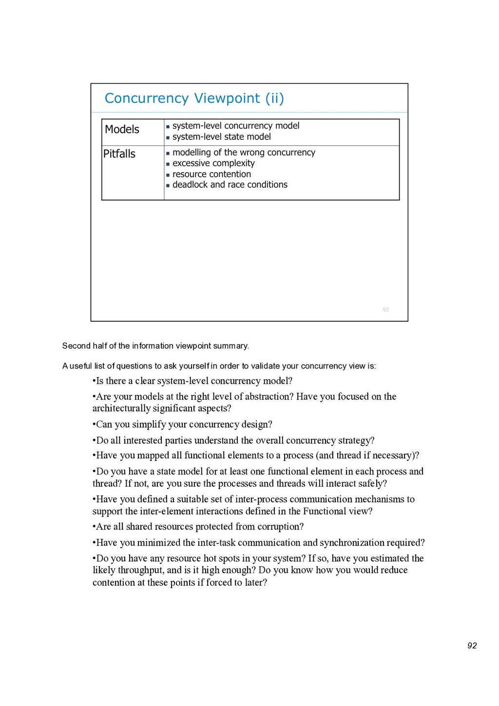 92 Second half of the information viewpoint sum...