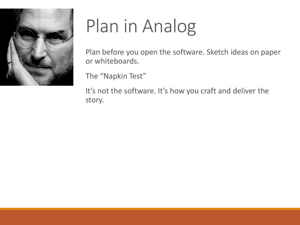 Plan in Analog Plan before you open the softwar...