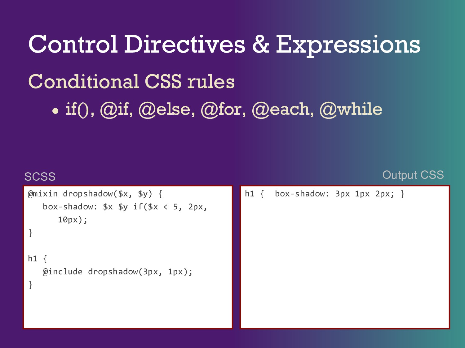 Control Directives & Expressions Conditional CS...
