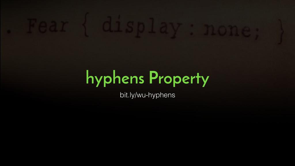 hyphens Property bit.ly/wu-hyphens