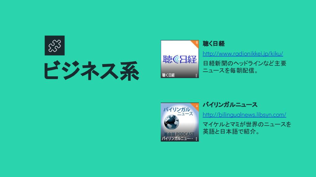 聴く日経 http://www.radionikkei.jp/kiku/ 日経新聞のヘッドライ...