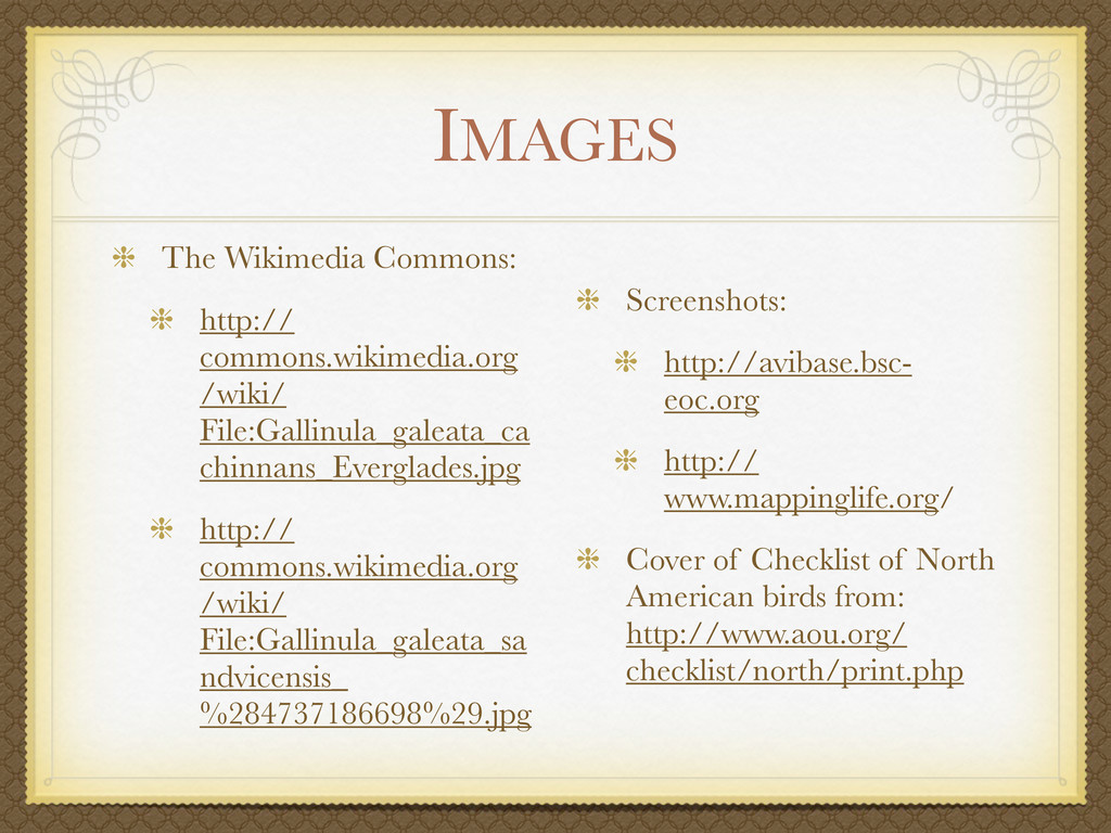 IMAGES The Wikimedia Commons: http:// commons.w...