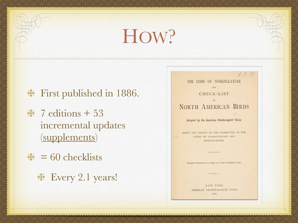 HOW? First published in 1886. 7 editions + 53 i...