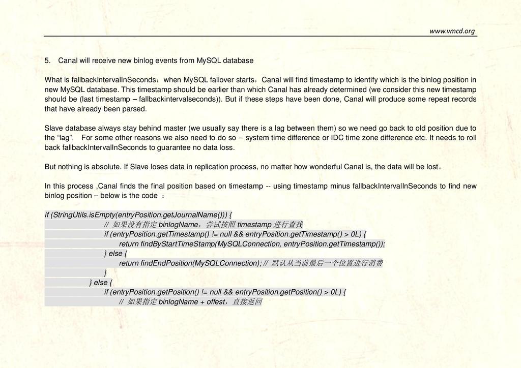 www.vmcd.org 5. Canal will receive new binlog e...