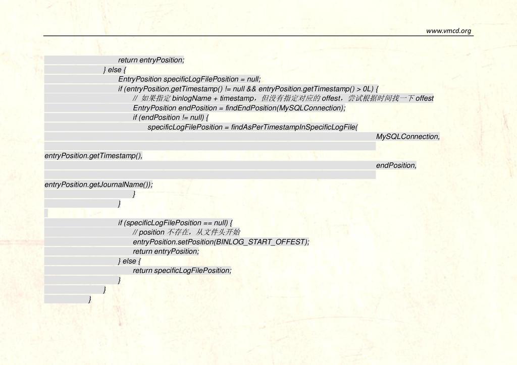 www.vmcd.org return entryPosition; } else { Ent...