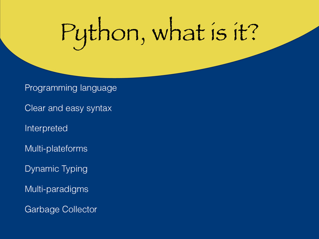 Python, what is it? Programming language Clear ...