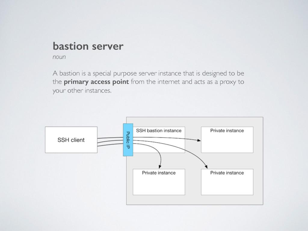 bastion server noun A bastion is a special purp...