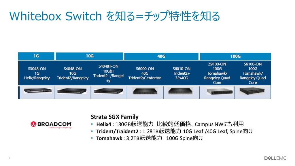 7 Whitebox Switch を知る=チップ特性を知る Strata SGX Famil...