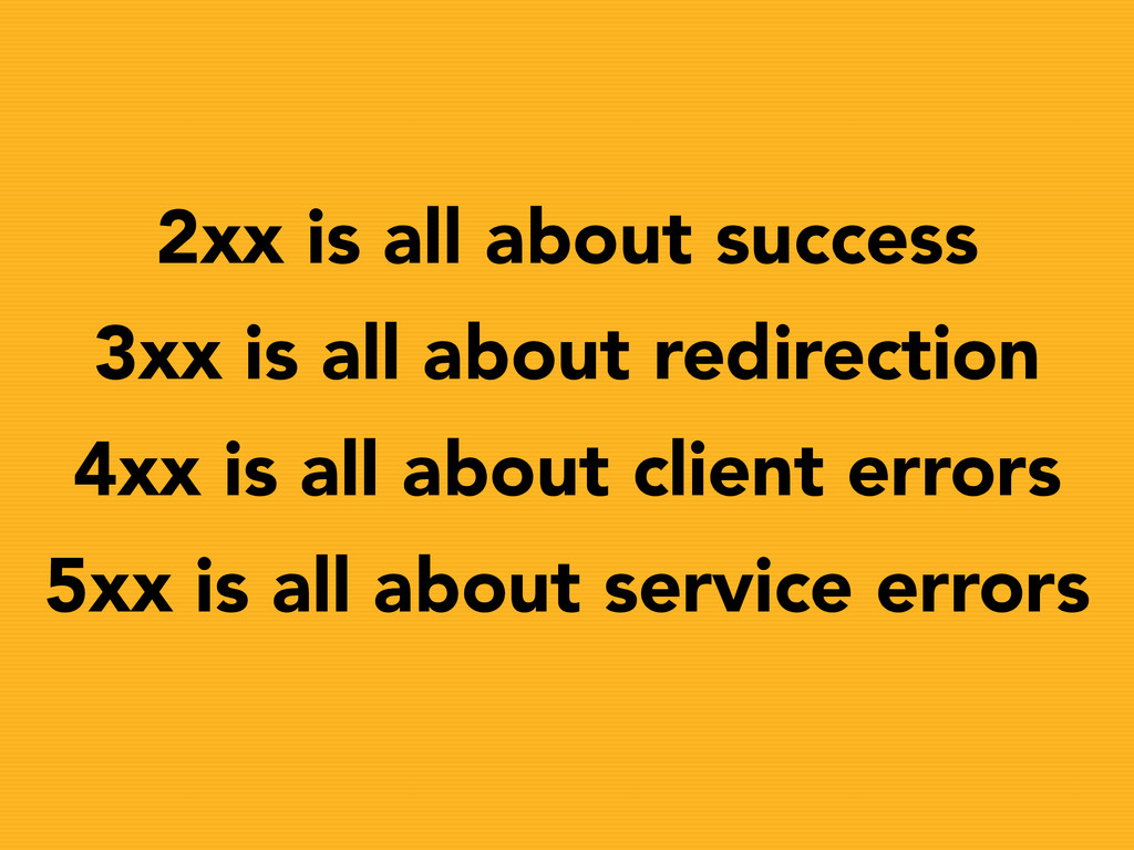 2xx is all about success 3xx is all about redir...