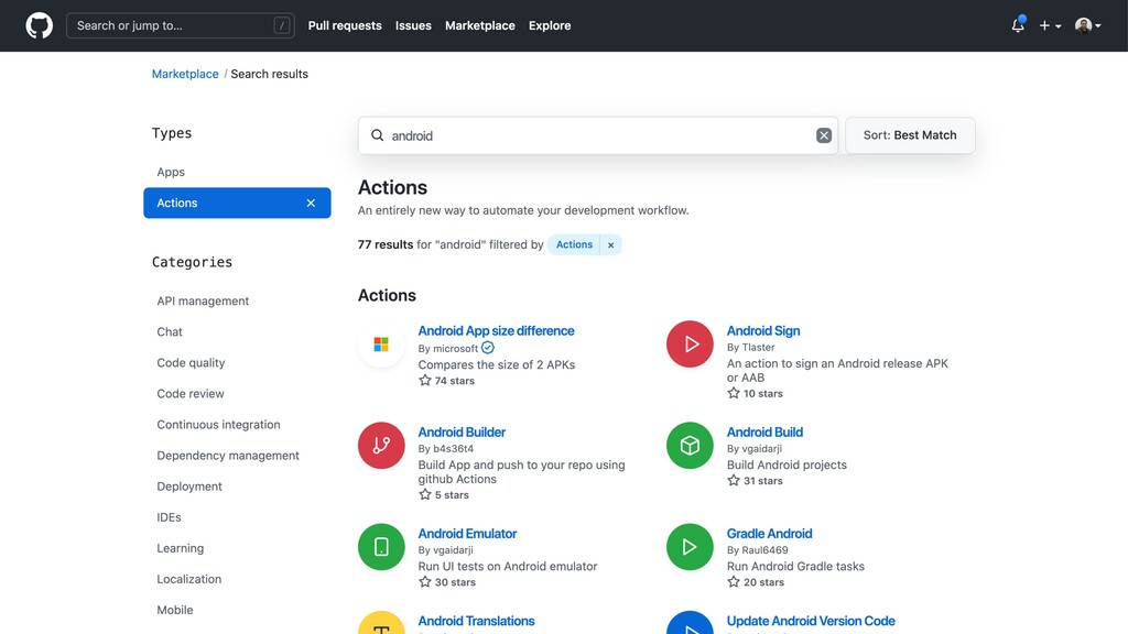 ➜ github-actions-playground ✗ act -l release ╭─...