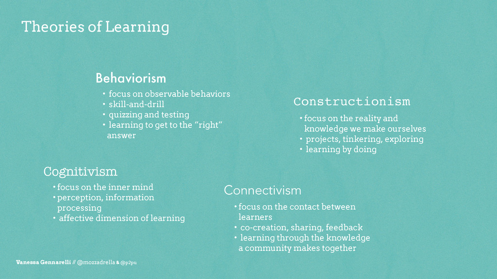 Theories of Learning Vanessa Gennarelli // @moz...