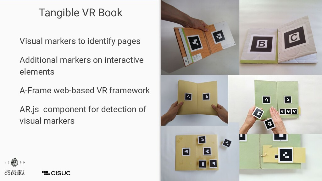 Tangible VR Book Visual markers to identify pag...