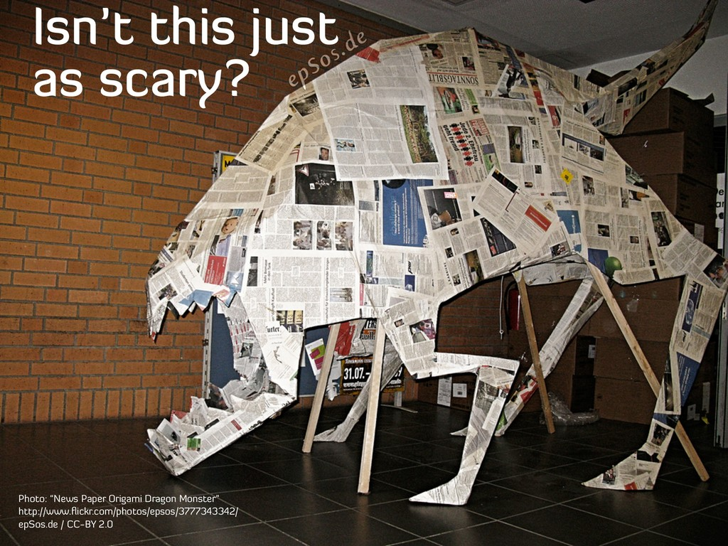 """Isn't this just as scary? Photo: """"News Paper Or..."""