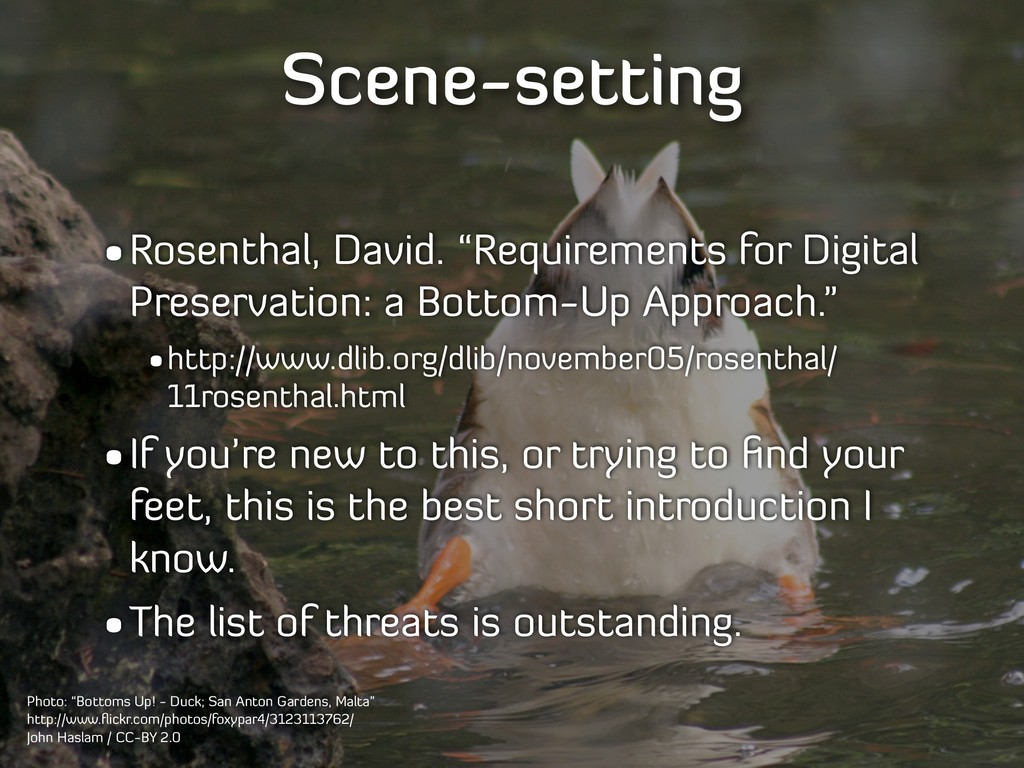 "Scene-setting •Rosenthal, David. ""Requirements ..."