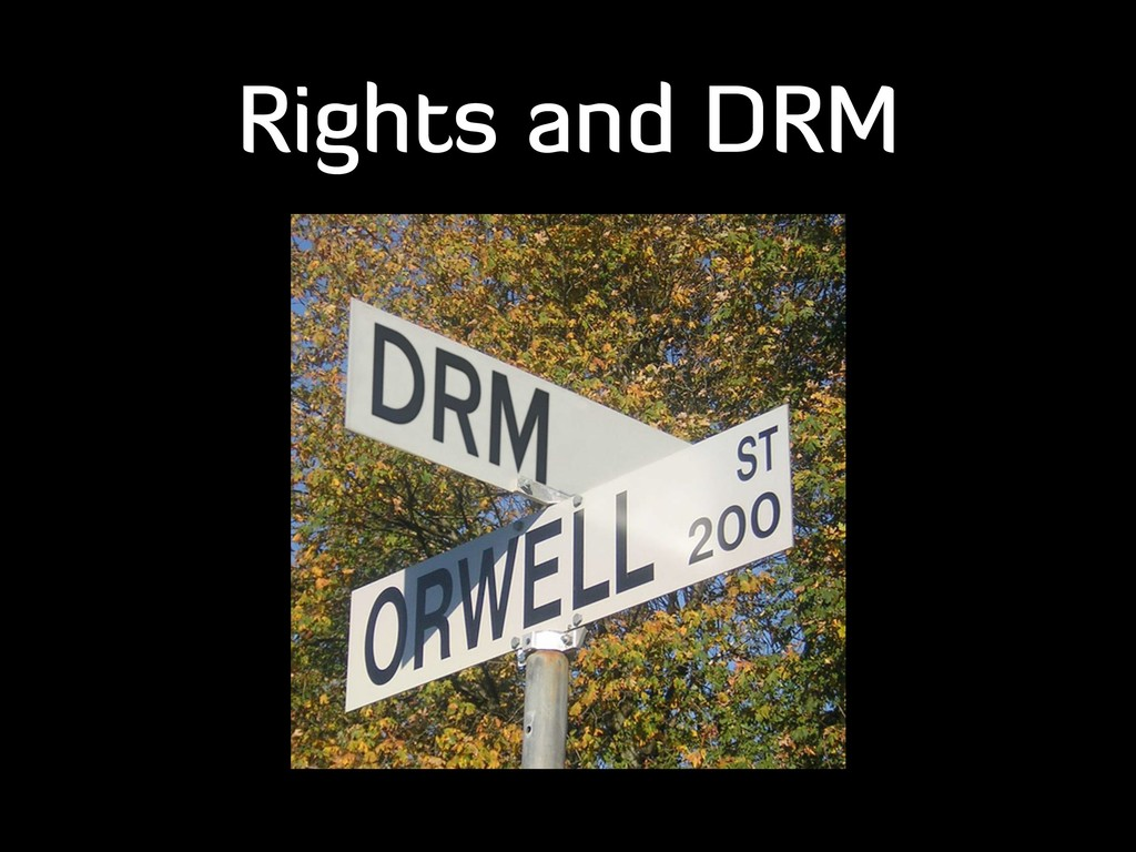 Rights and DRM
