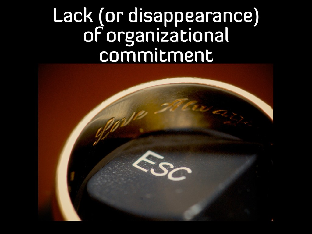 Lack (or disappearance) of organizational commi...