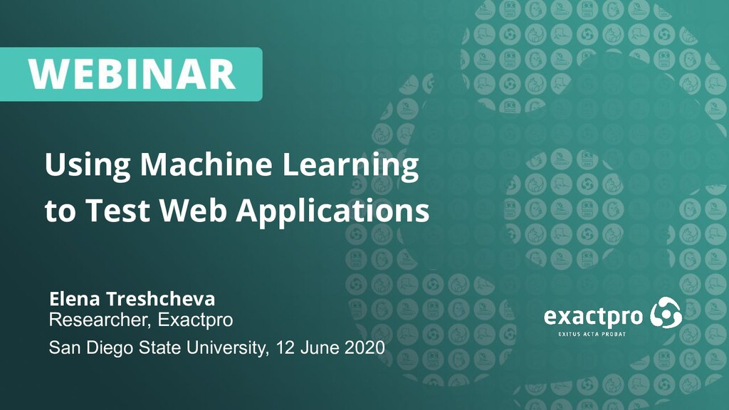 1 Using Machine Learning to Test Web Applicatio...