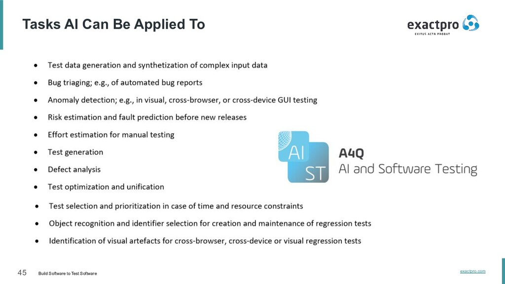 45 Build Software to Test Software exactpro.com...