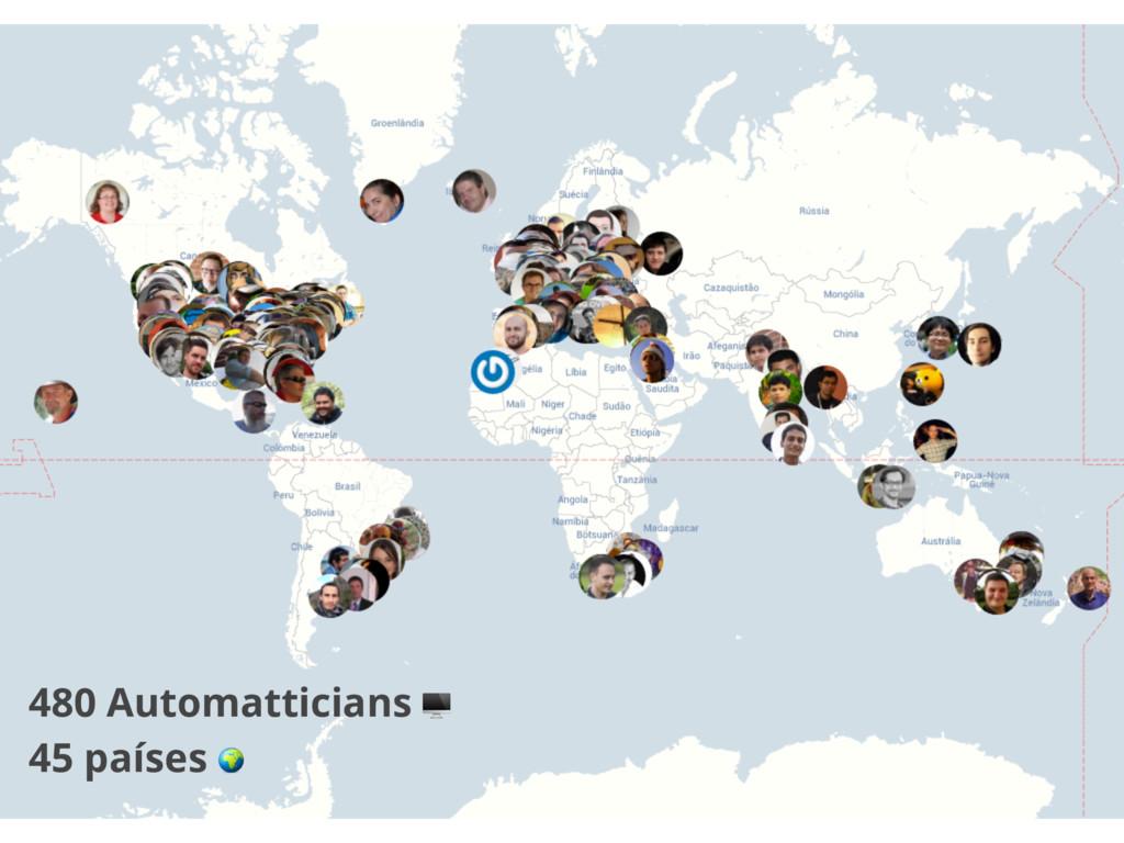 480 Automatticians  45 países
